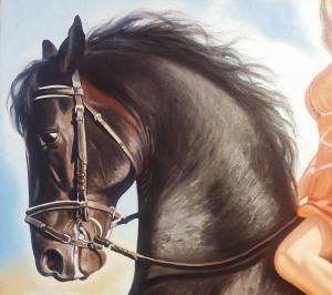 Фрагмент портрета маслом в Саратове