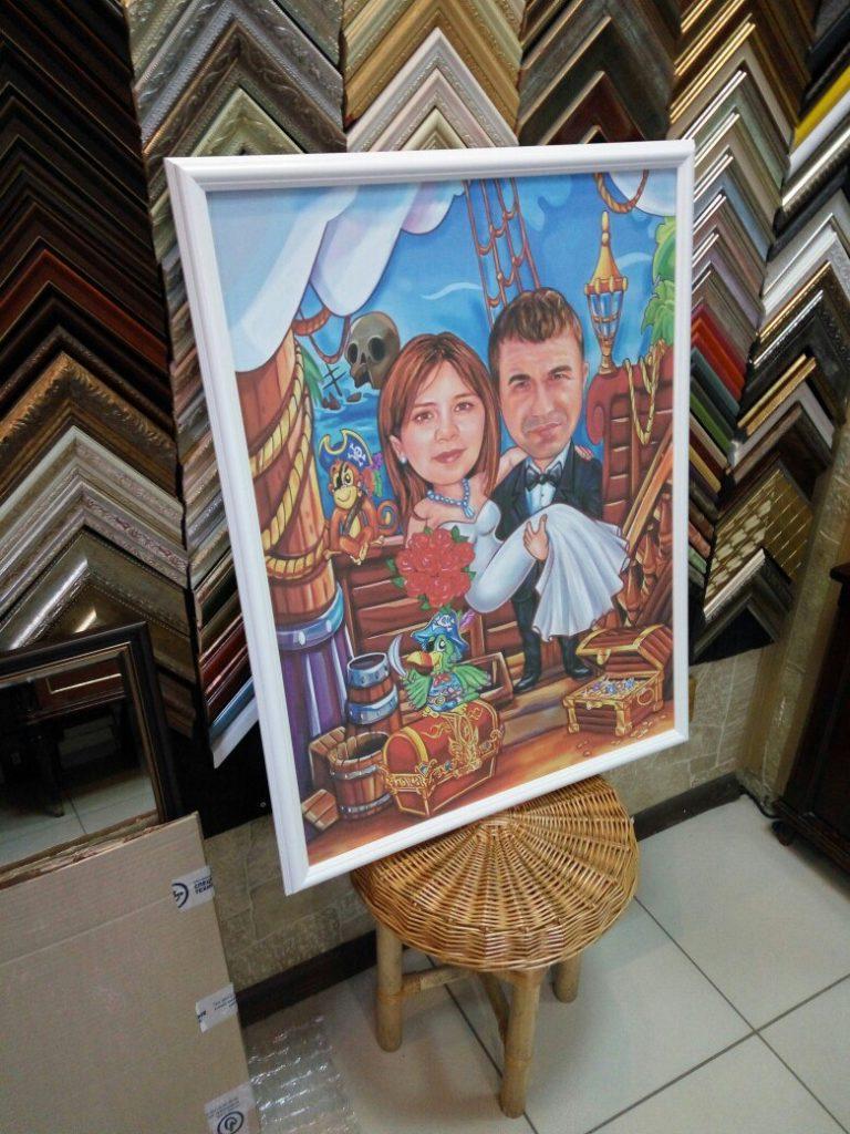 портрет шарж на заказ в саратове