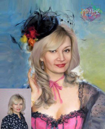 Заказать арт портрет по фото на холсте в Саратове