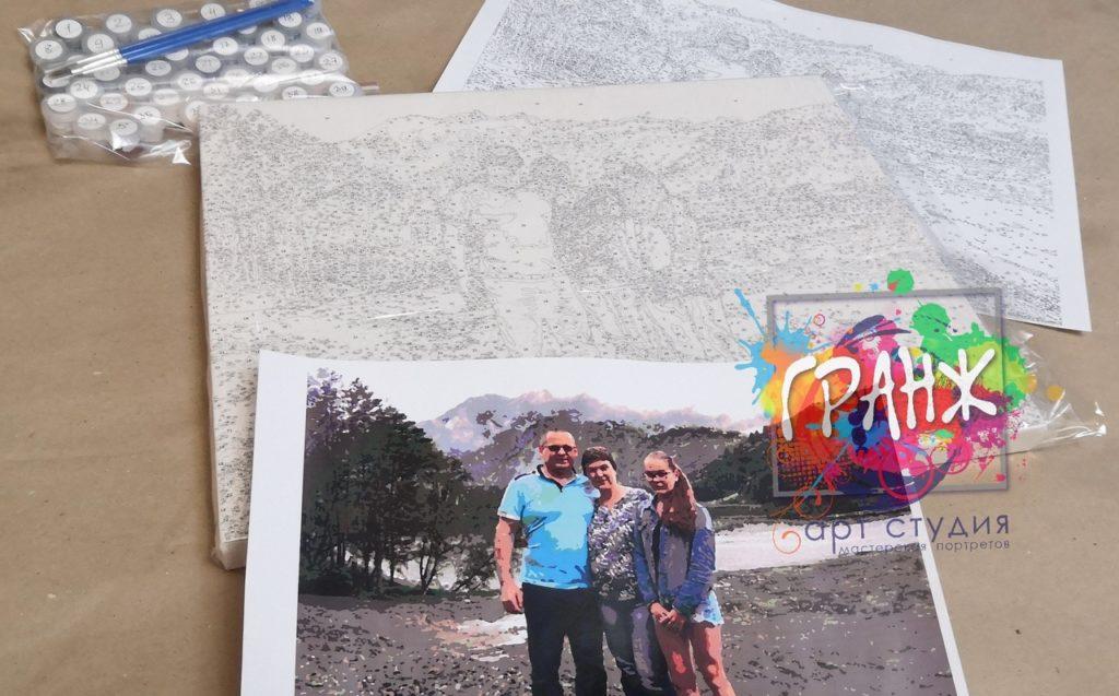 картин по номерам на холсте по фото в Саратове