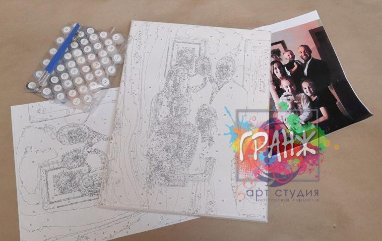 Картина по номерам по фото, портреты на холсте и дереве в Саратове
